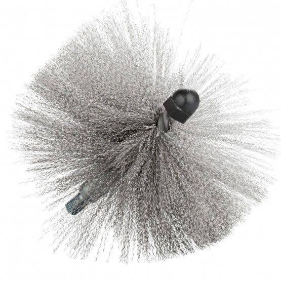 Spazzola term, con filetto M10, acciaio