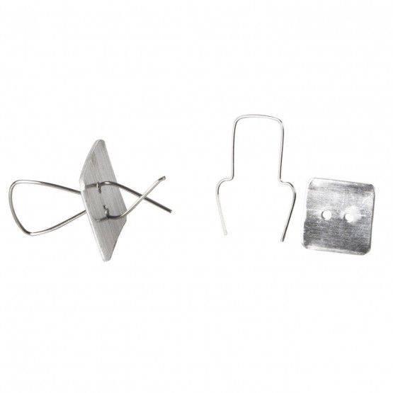 Clips alluminio, conf. 100 pezzi